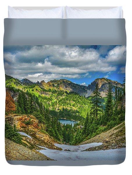 Alpine Solitude Duvet Cover