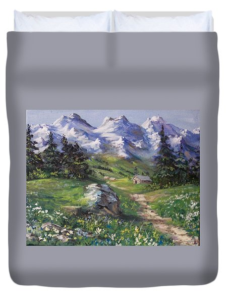 Alpine Splendor Duvet Cover