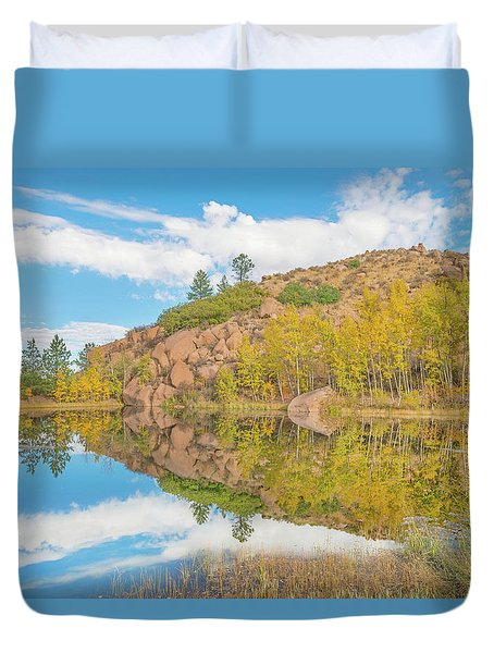 Alpine Vale Reflection  Duvet Cover