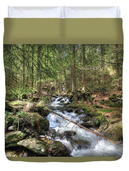 Alpine Water Falls Duvet Cover