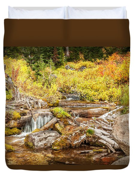 Alpine Waterfall Duvet Cover
