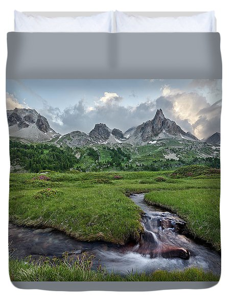 Alps In The Afternoon Duvet Cover