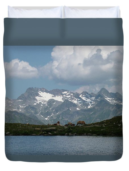 Alps Magenificence Duvet Cover