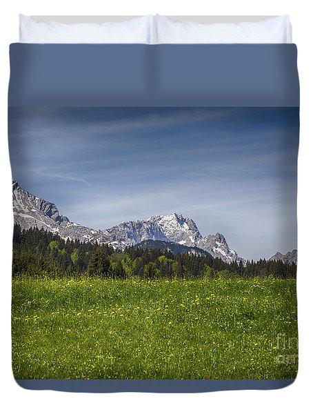 Alpspitze And Zugspitze Duvet Cover