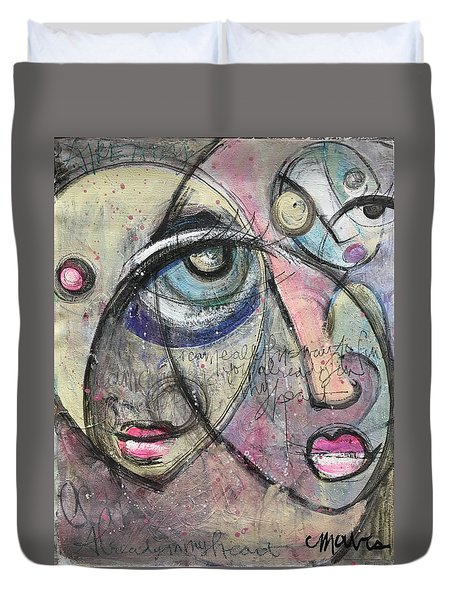 Already In My Heart Duvet Cover by Laurie Maves ART