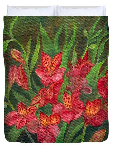 Alstroemeria Duvet Cover
