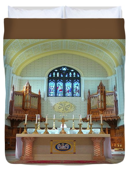 Duvet Cover featuring the photograph Altar At Basilica Of St. Peter And St.paul by Mike Breau