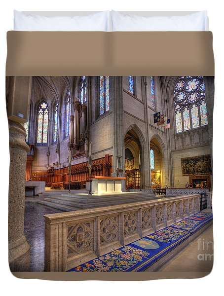 Altar At Grace Cathedral Duvet Cover
