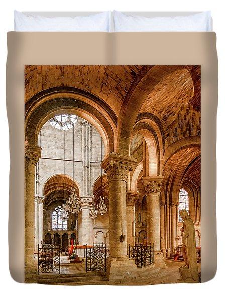 Poissy, France - Altar, Notre-dame De Poissy Duvet Cover