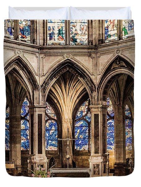 Paris, France - Altar - Saint-severin Duvet Cover