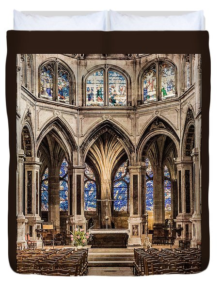 Paris, France - Altar - Saint-severin Duvet Cover