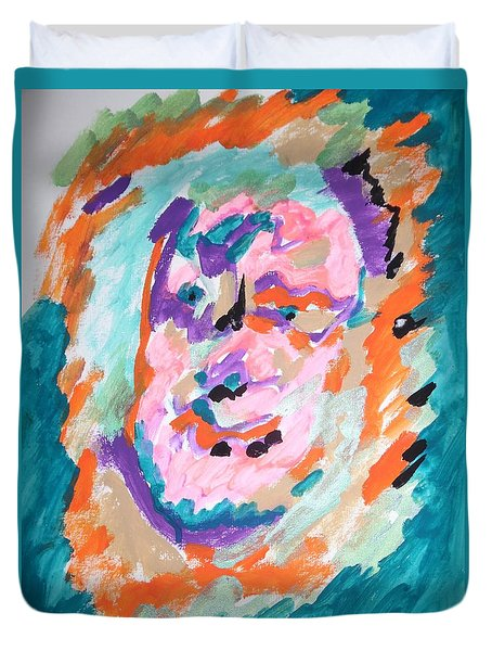 Duvet Cover featuring the painting Alter Ego by Esther Newman-Cohen