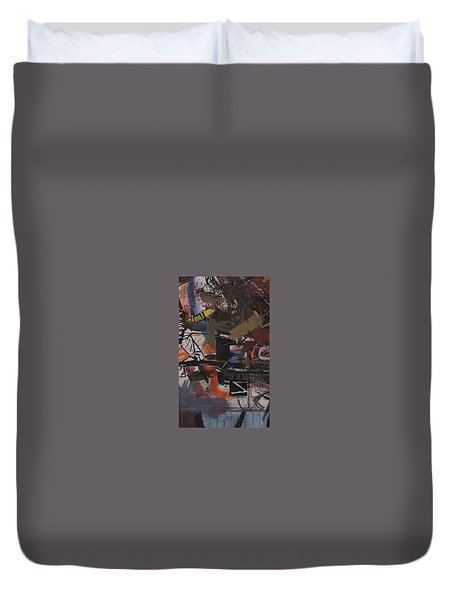 Duvet Cover featuring the painting Altered One-off #1 by Robert Anderson