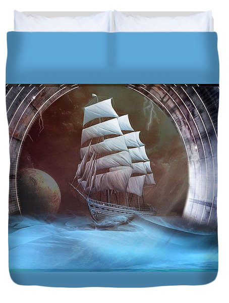 Alternate Perspectives Duvet Cover by Mario Carini