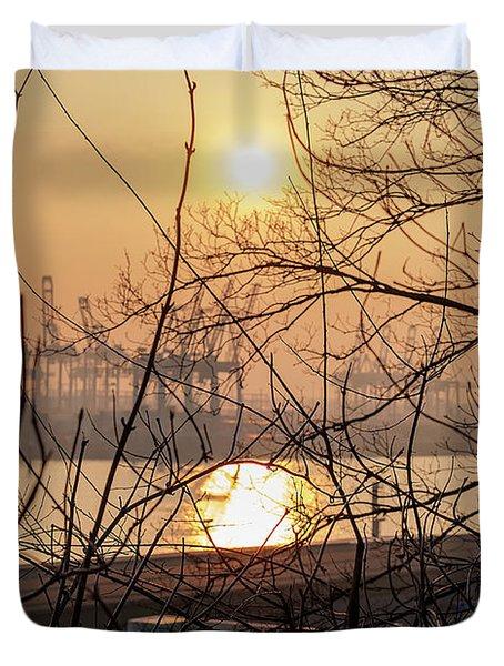 Altonaer Balkon Sunset Duvet Cover