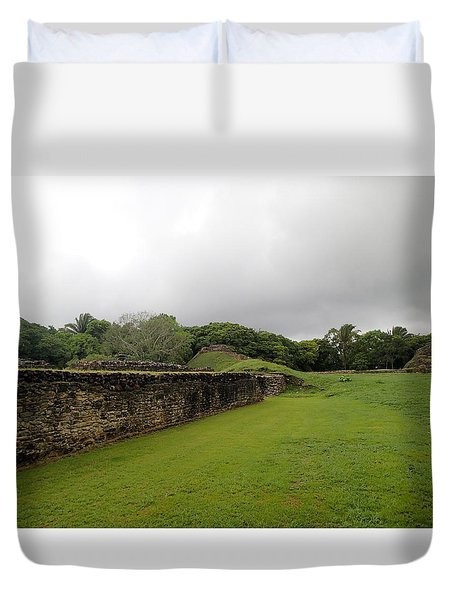 Altun Ha #1 Duvet Cover by Lois Lepisto