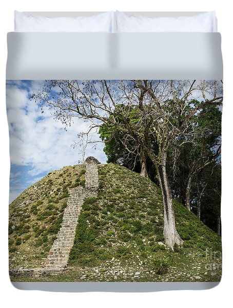Duvet Cover featuring the photograph Altun Ha Ruins by Suzanne Luft