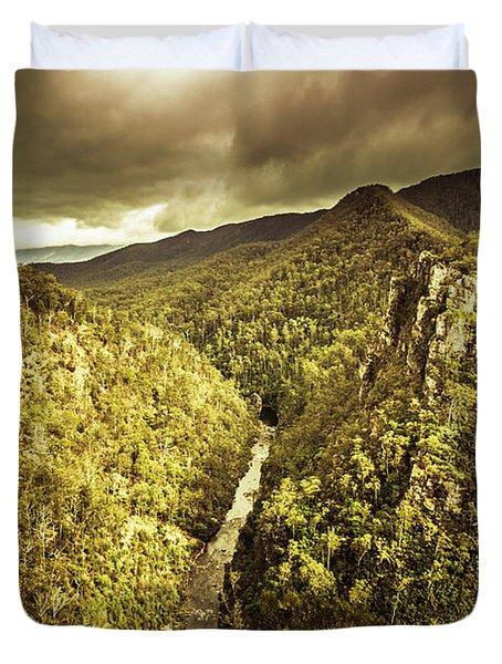 Alum Cliffs, Tasmania, Australia Duvet Cover