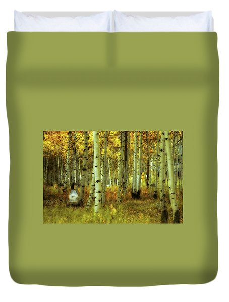 Duvet Cover featuring the photograph Alvarado Autumn 1 by Marie Leslie