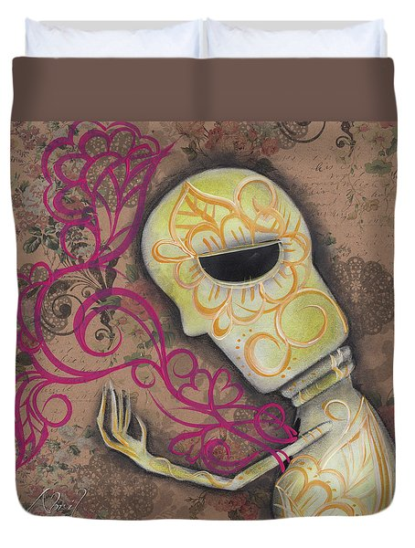 Always Alone  Duvet Cover by Abril Andrade Griffith