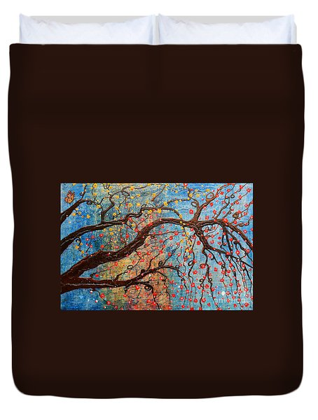 Duvet Cover featuring the mixed media Always Dream by Natalie Briney