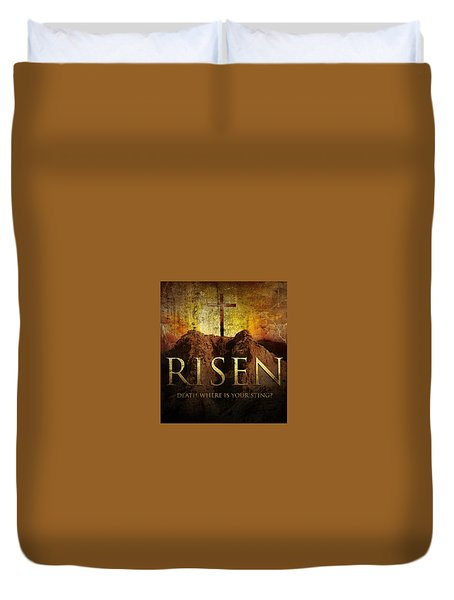Always Risen Duvet Cover by David Norman