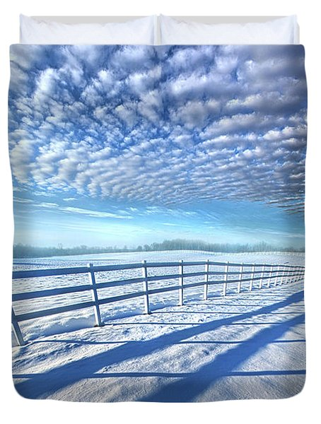 Duvet Cover featuring the photograph Always Whiter On The Other Side Of The Fence by Phil Koch
