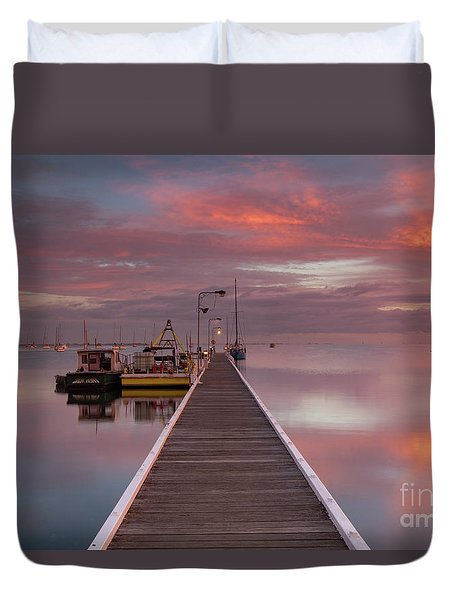 A.m. Solitude Duvet Cover