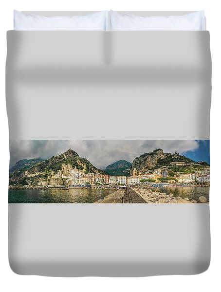 Duvet Cover featuring the photograph Amalfi by Steven Sparks