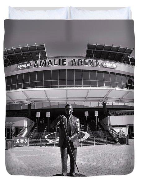 Amalie Arena Black And White Duvet Cover