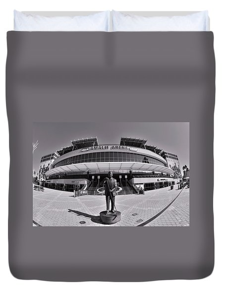 Amalie Arena Black And White Duvet Cover