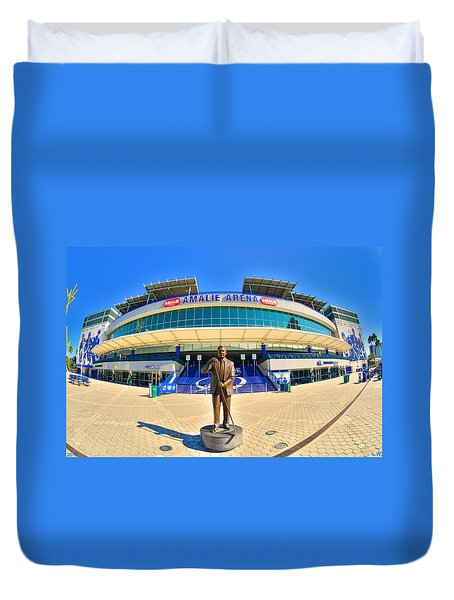 Duvet Cover featuring the photograph Amalie Arena by Lisa Wooten