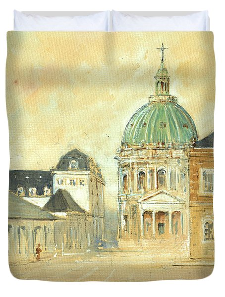 Amalienborg Palace Copenhagen Duvet Cover