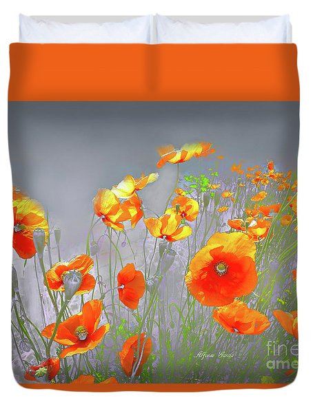 Duvet Cover featuring the photograph Amanecer En Primavera by Alfonso Garcia