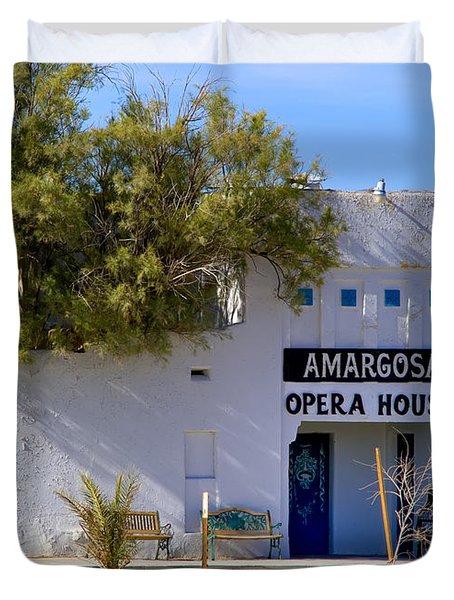 Amargosa Opera House Duvet Cover by Tomasz Dziubinski