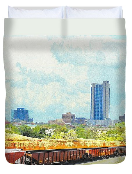 Amarillo Texas In The Spring Duvet Cover