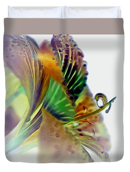 Amaryllis Butterfly Duvet Cover