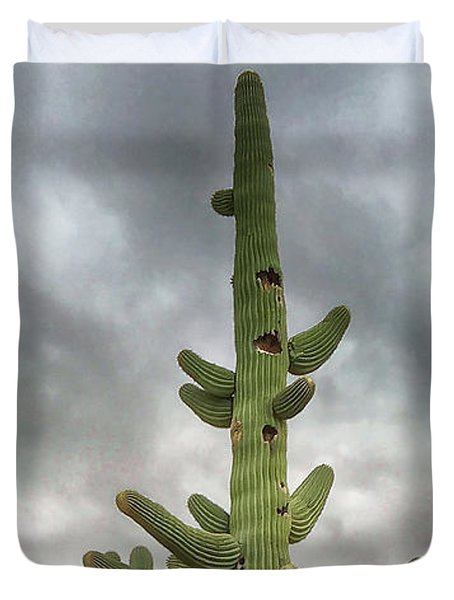 Duvet Cover featuring the photograph Arizona Christmas Tree by Anne Rodkin