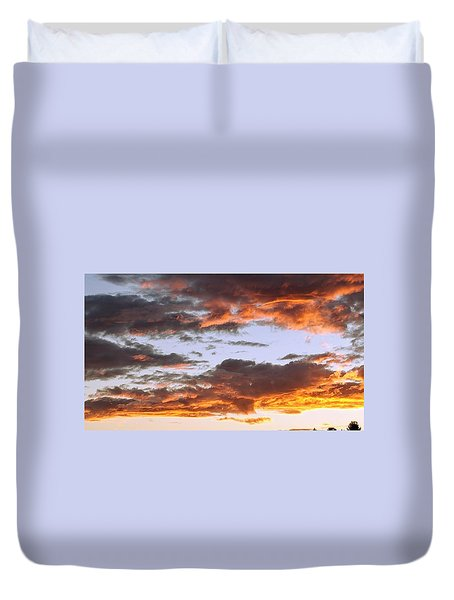 Glorious Clouds At Sunset Duvet Cover