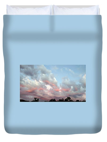 Amazing Clouds At Dusk Duvet Cover