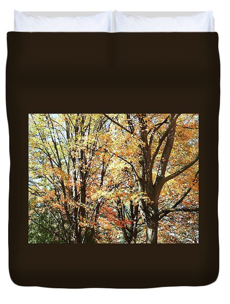 Duvet Cover featuring the photograph Amazing Fall by Irina Sztukowski