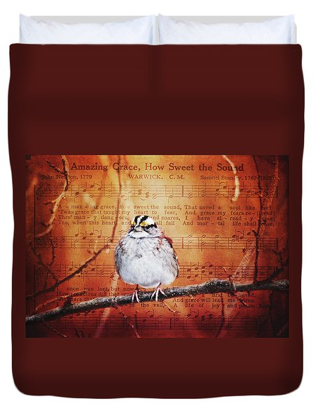 Amazing Grace Duvet Cover by Trina Ansel