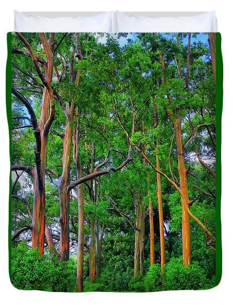 Amazing Rainbow Eucalyptus Duvet Cover