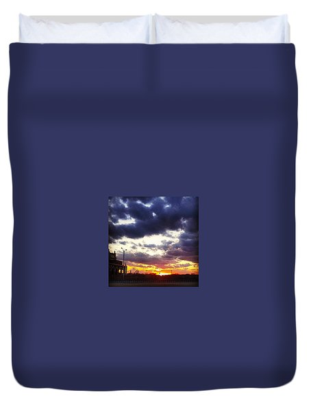 Amazing Sunset Duvet Cover by Lauren Fitzpatrick