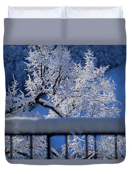 Duvet Cover featuring the photograph Amazing - Winterwonderland In Switzerland by Susanne Van Hulst