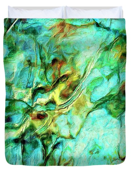 Duvet Cover featuring the painting Amazon by Dominic Piperata