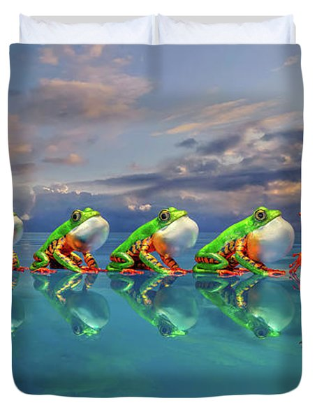 Amazon Tree Frog The Vocal Jumper Duvet Cover