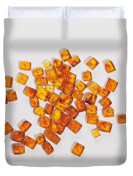 Duvet Cover featuring the photograph Amber  # 8393 by Andrey  Godyaykin