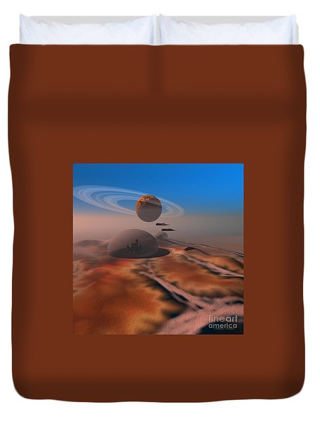 Amber Crest Duvet Cover by Corey Ford