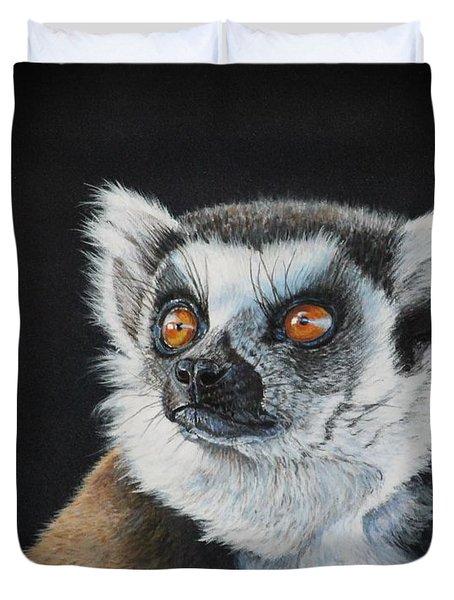 Amber Eyes......lemur Duvet Cover